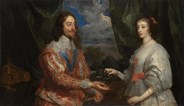 'Charles I and Henrietta Maria Holding a Laurel Wreath' (1632)