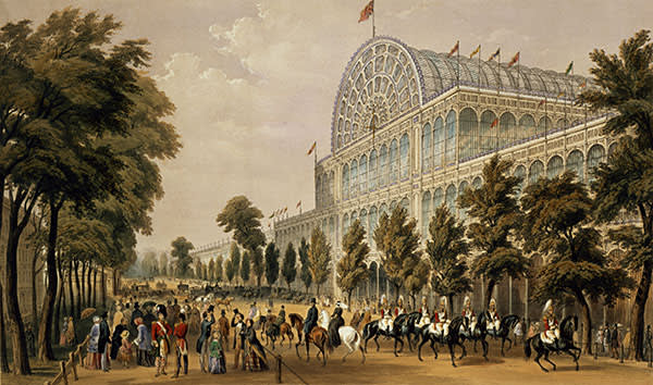 1851 engraving of the Crystal Palace, Hyde Park, London