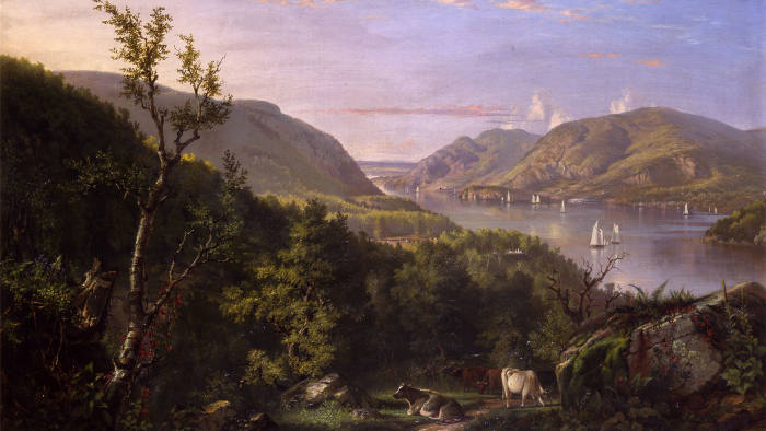 'View of the Highlands from West Point' (1862) by John Ferguson Weir
