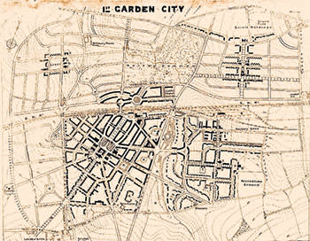 The master plan for Letchworth Garden City, 1904