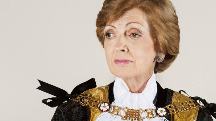 Lord Mayor Fiona Woolf photographed at her flat in Mansion House. Photo Rick Pushinsky