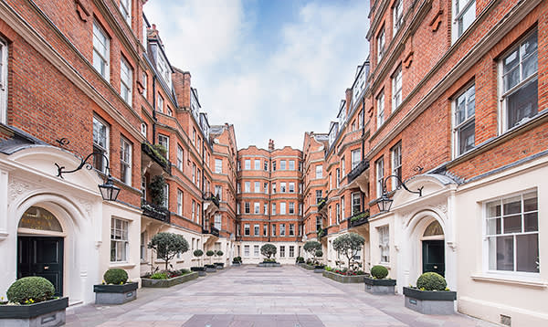 Cheyne Court, London. A two-bedroom apartment in a 19th century mansion in Old Chelsea. £2,950,000, reduced from £3,500,000 following the referendum result. Hamptons International. http://www.hamptons.co.uk/buy/property/2-bedroom-flat-in-london%2csw3-ref-3876216/