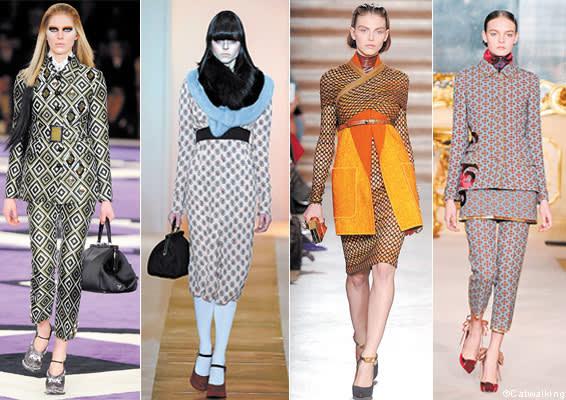 printed pattern at Milan fashion