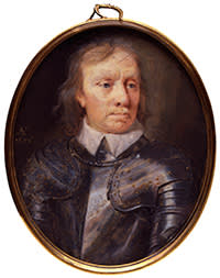 Oliver Cromwell by Samuel Cooper, watercolour on vellum, 1656