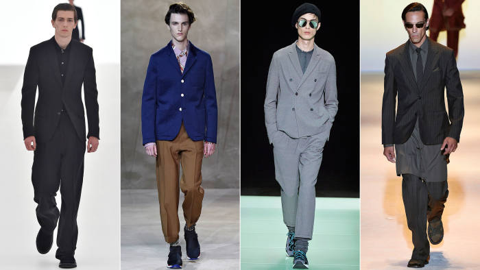 Looks from the Spring/Summer 2016 shows of Ermenegildo Zegna, Marni, Emporio Armani and Versace