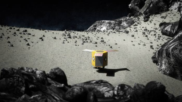 Prospector-1, the first commercial interplanetary mining mission by Deep Space Industries, will intercept a near-Earth asteroid to determine its value as a source of space resources.After arrival, Prospector-1 will map the asteroid's surface and subsurface.