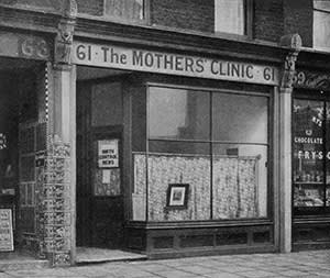 Marie Stopes's first clinic, which opened in Holloway, north London, in 1921