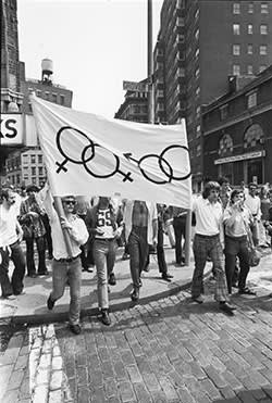 First mass rally in support of gay rights on July 26 1969 in New York