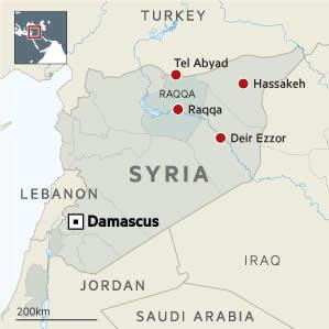 Syria Locator map