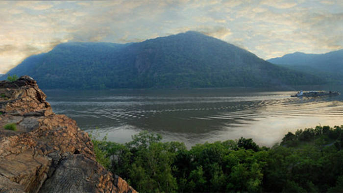 The Hudson river at Little Stony Point near Cold Spring, New York