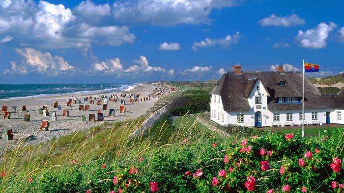 The beach near the village of Kampen on Sylt