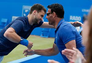 Grigor Dimitrov with new coach Roger Rasheed