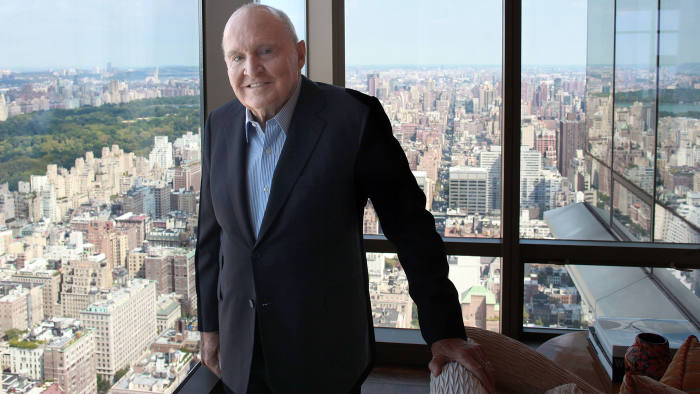 Ex-GE CEO Jack Welch in his New York apartment