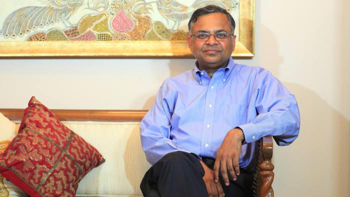 Natarajan Chandrasekaran, chief executive of Tata Consultancy Services, at his home in Mumbai