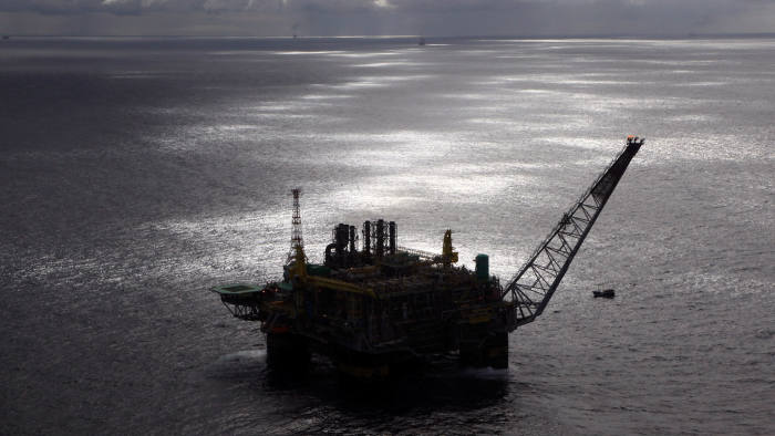 Petrobras P-51 oil platform stands in the Marlim Sul field, at the Campos Basin in Brazil