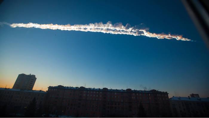 trail of the Chelyabinsk meteorite
