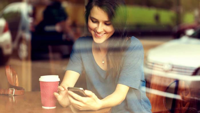 Girl Textibng on phone