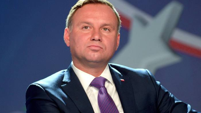 epa06185234 President of Poland Andrzej Duda attend a debate 'Unfinished integration and the aspirations of European countries' attend the XXVII Economic Forum headlined 'Project Europe - Recipes for the next decade' in Krynica-Zdroj, southern Poland, 05 September 2017. EPA/GRZEGORZ MOMOT POLAND OUT