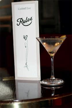 A glass of martini