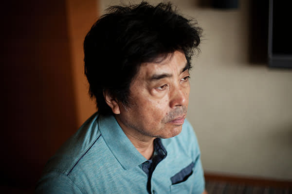 """Ryu Murakami in the Tokyo hotel where he works four days a week: """"The room is a mess, as you'd expect"""""""