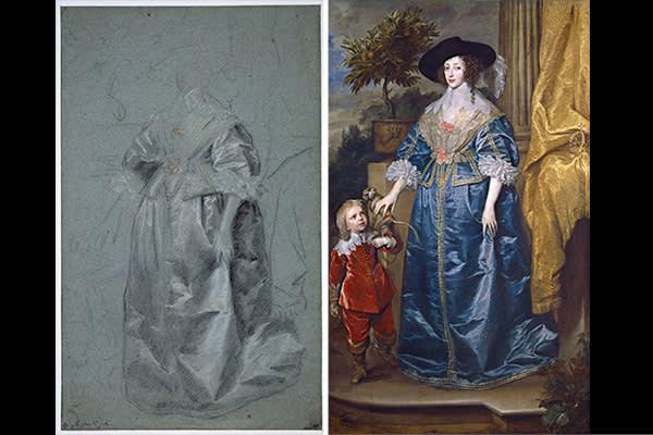 'Queen Henrietta Maria with Jeffery Hudson' (1633)