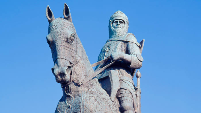 King Robert the Bruce statue at Bannockburn, Scotland, where independence from England was secured in 1314