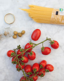 cherry tomatoes, olives