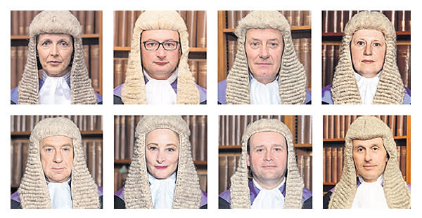 A selection of the circuit judges sworn in at the Royal Courts of Justice over the past 15 months