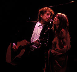 Patti Smith with Bob Dylan in 1995