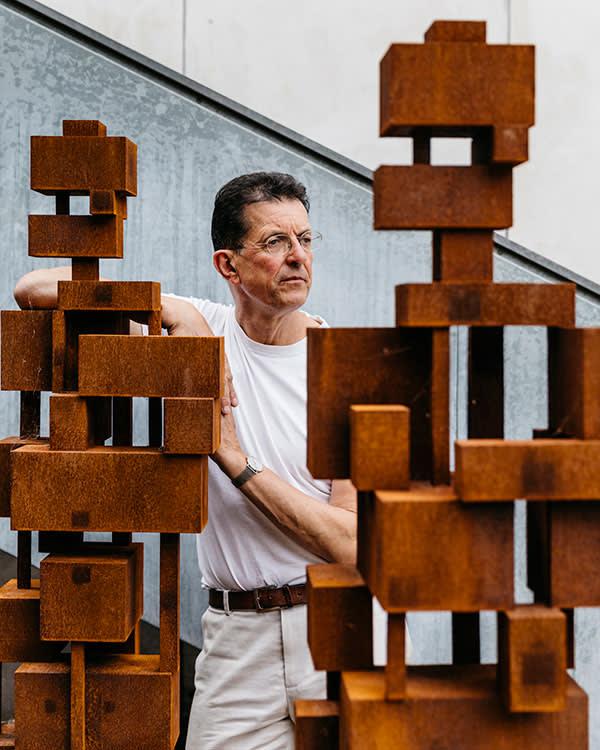 Antony Gormley in his North London studio