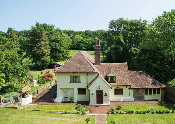 £700,000, reduced from £750,000. Wheelbarrow Town, Kent. A three-bedroom cottage with high ceilings and exposed wooden beams and its own paddock. Strutt and Parker. http://www.struttandparker.com/properties/wheelbarrow-town-stelling-minnis-canterbury-kent-ct4?map-view=1