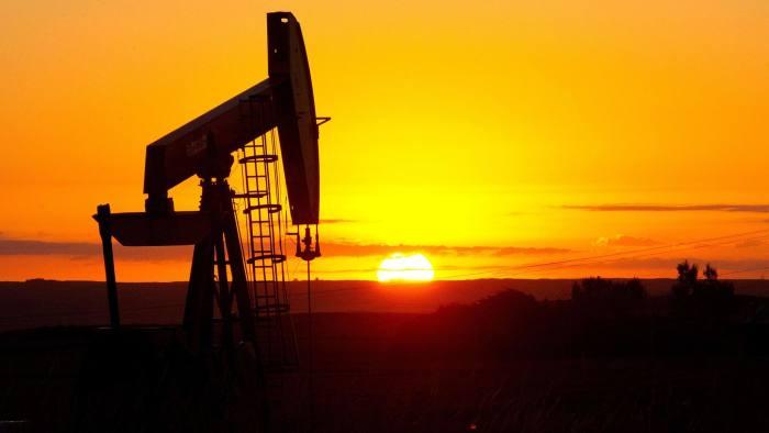 Oil well near Tioga, North Dakota