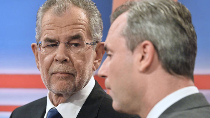 Contenders: Alexander Van der Bellen of the Greens narrowly beat Norbert Hofer of the Freedom party to the presidency