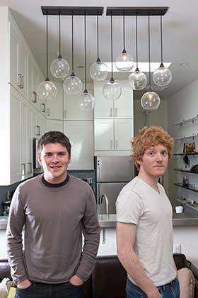 John and Patrick Collison in their San Francisco apartment