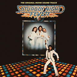 Record cover for the soundtrack to 'Saturday Night Fever'