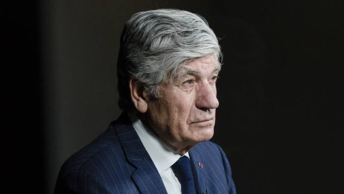 Maurice Levy, outgoing chief executive officer of Publicis Group SA, looks on during a Bloomberg Television interview in Paris, France, on Wednesday, Feb. 22, 2017. Publicis last month named Arthur Sadoun to succeed Levy, an industry leader who built the French company into an advertising powerhouse in almost 30 years at the helm. Photographer: Marlene Awaad/Bloomberg