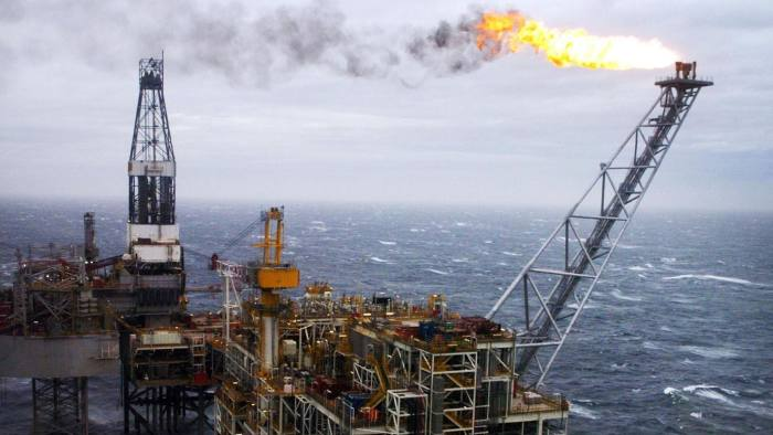 An oil rig in the North Sea