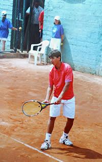 Rafael Nadal training in Mallorca, aged 15