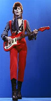 David Bowie performing 'Rebel Rebel' in 1974