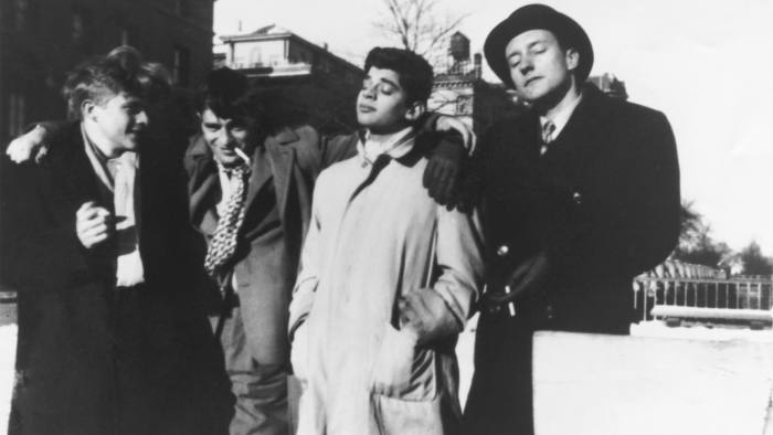 From left, Hal Chase, Jack Kerouac, Allen Ginsberg and William Burroughs in Manhattan, c1944-45