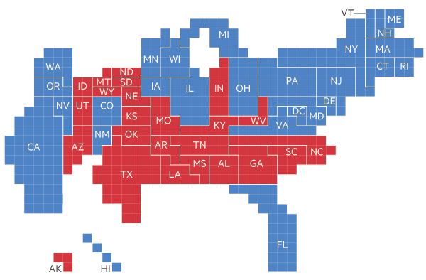 2012 US election maps