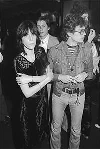 Patti Smith with Robert Mapplethorpe in 1974