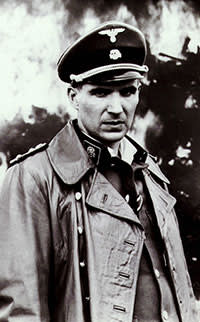 Ralph Fiennes in 'Schindler's List', 1993. Fiennes' first Oscar‑nominated performance, as sadistic Nazi officer Amon Goeth