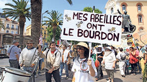 A protest in Perpignan, France, last year against the use of pesticides