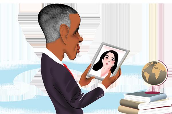 Obama illustration