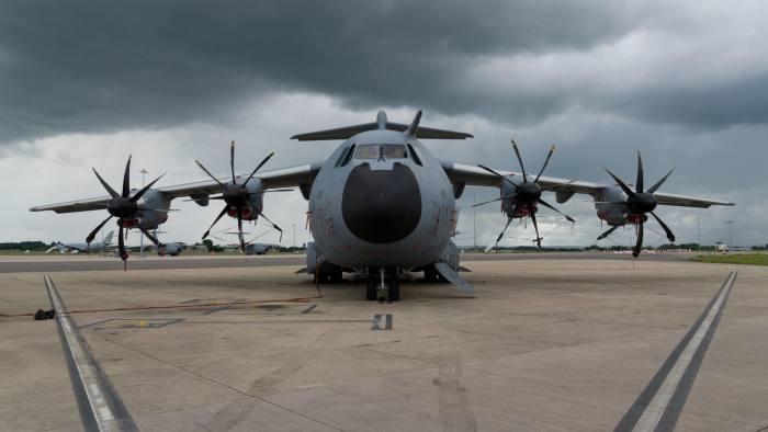 H9EPK2 Airbus A400M Atlas transport plane. Royal Airforce military aircraft.