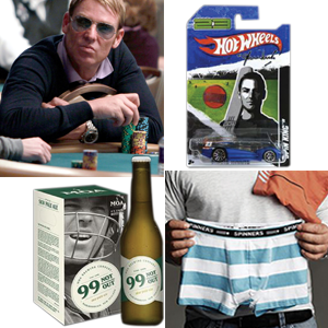 Over the years the Warne brand has been applied to, among others, poker, Hot Wheels cars, beer, and underwear