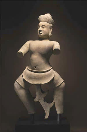 The 10th-century Cambodian statue 'Duryodhana'