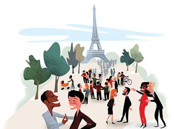Illustration by Luis Grañena of Paris