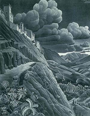MC Escher's 'Castrovalva, Abruzzi' (1930)